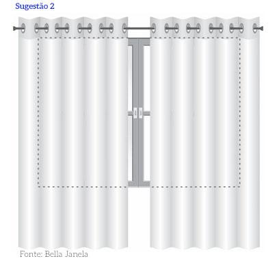cortina tamanho da janela
