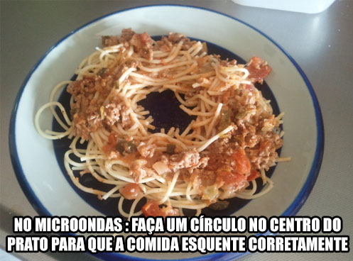 microondas comida circulo