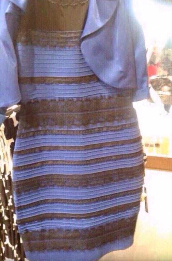 vestido Dourado e Branco ou Azul e Preto? Nós temos as duas!