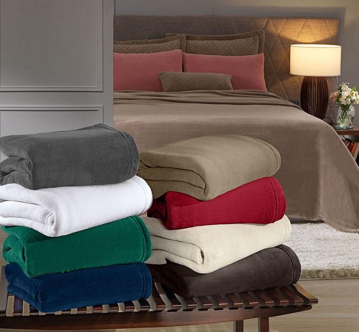 cobertores hedrons mantas coloridas lisas