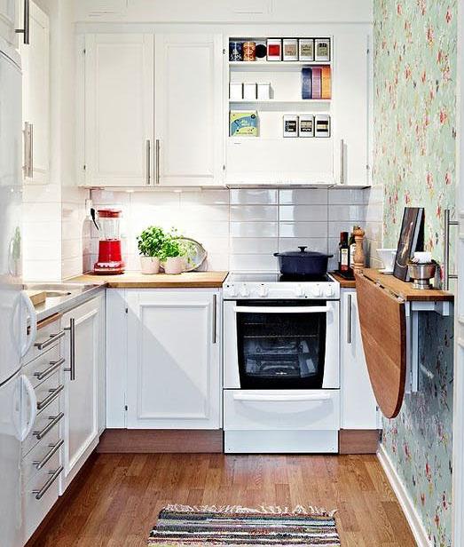 Dicas geniais para cozinhas pequenas: charme e organização