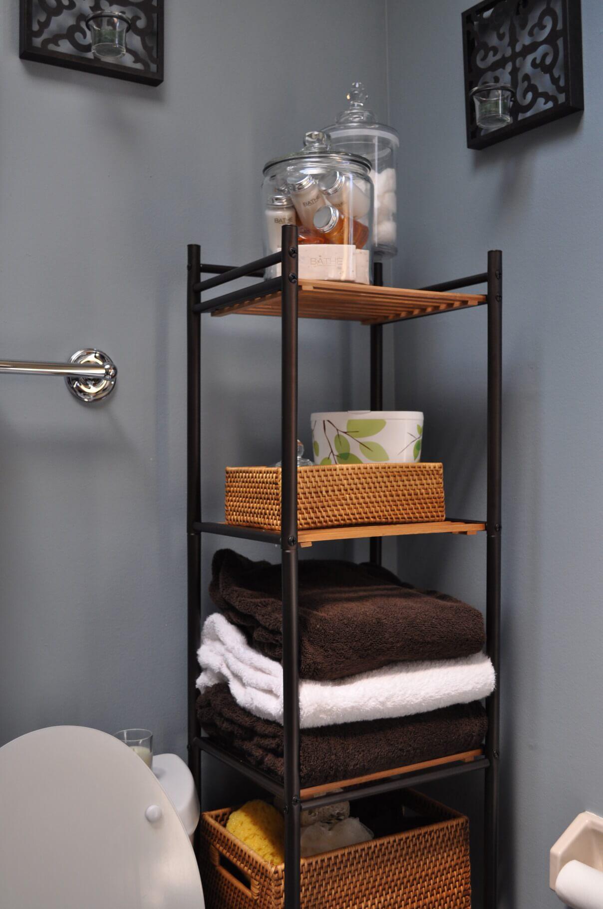 prateleiras para banheiro