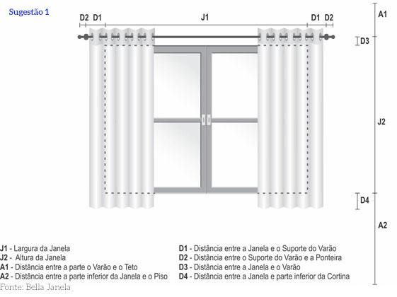 como escolher o tamanho cortina