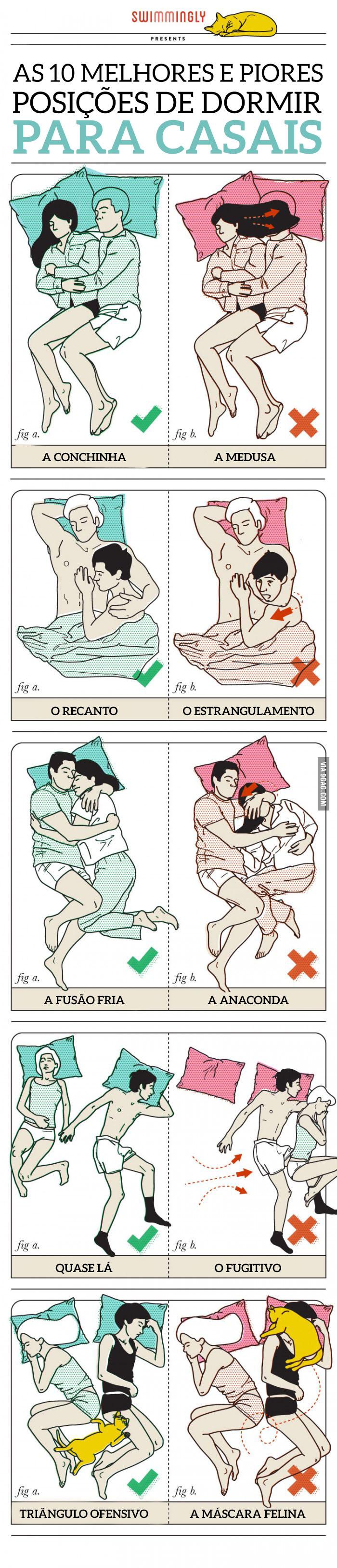 10 formas de dormir