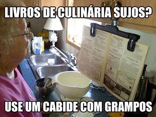 livro culinaria cozinha grampo