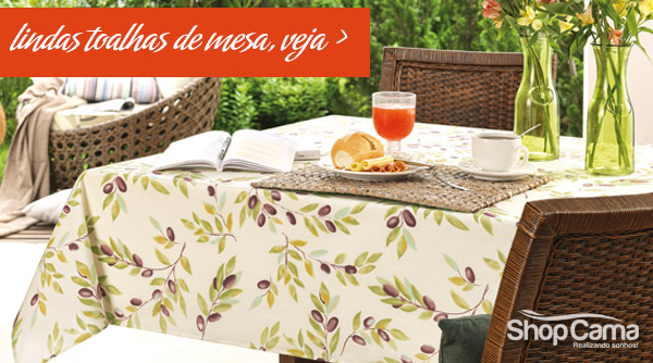lindas toalhas de mesa no shopcama