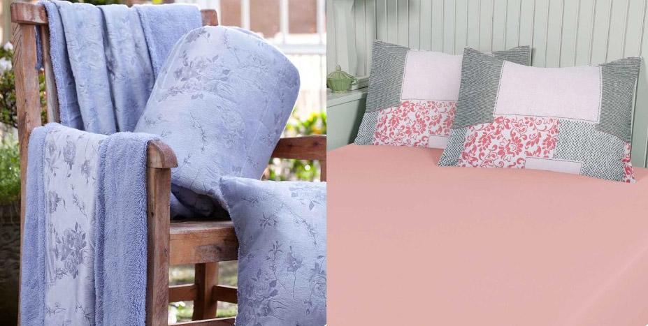 edredom serenidade e roupa de cama rosa quartzo
