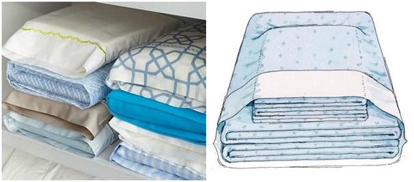 dobrar-roupa-de-cama