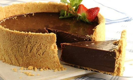 torta gelada de chocolate cheesecake