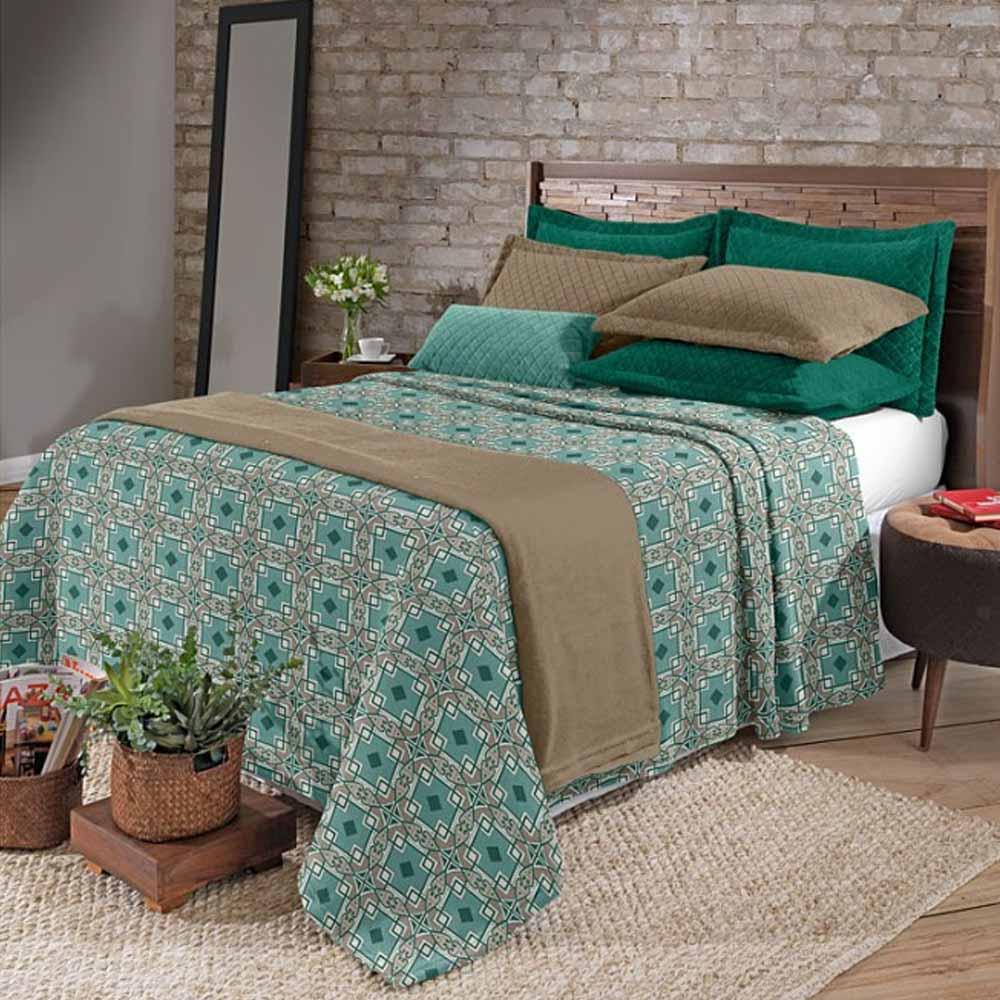cobertor verde decoração vintage