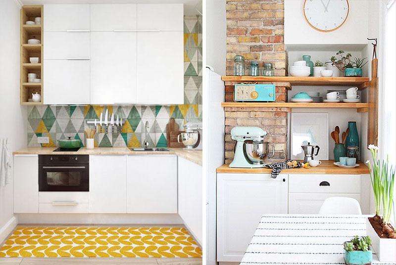 decoracao cozinha branca pequena