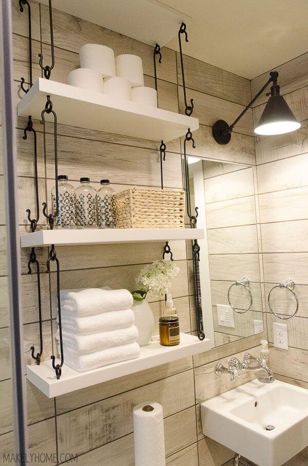 como guardar as toalhas do banheiro