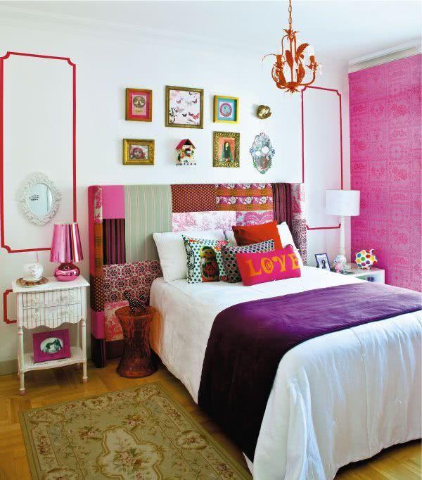 decoracao chic quarto de menina roxo