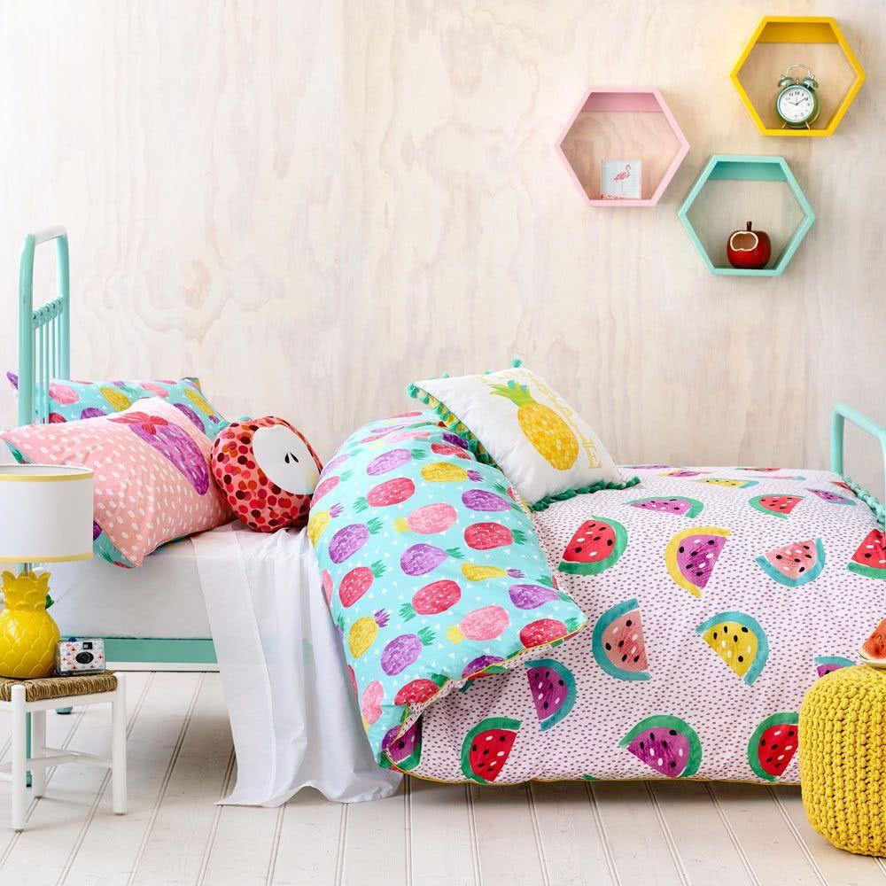quarto de crianca decoracao com frutas