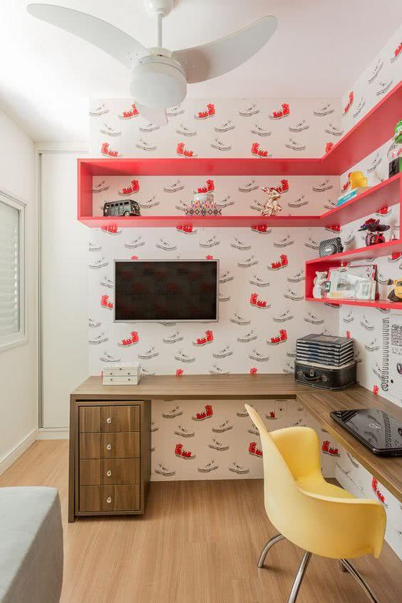 quarto jovem decoracao papel de parede