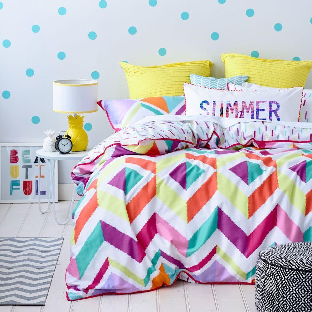 quartos coloridos cama adolescente